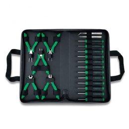 Набор инструмента прецизионного 19 ед. в сумке GPN-019A TOPTUL