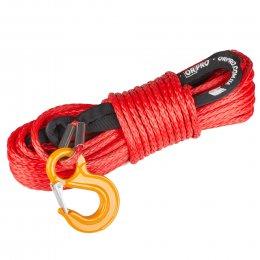 Синтетический (кевларовый) трос 30м 10мм (красный)