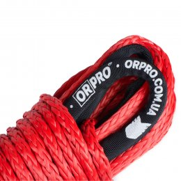 Синтетический (кевларовый) трос ORPRO 25м 12мм (красный, без крюка)