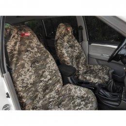 Комплект грязезащитных чехлов ORPRO на передние и заднее сиденья (Пиксель)