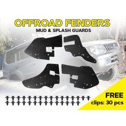 Увеличенная боковая защита двигателя Toyota Land Cruiser Prado 90