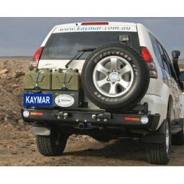 Задний бампер Kaymar с калитками Toyota LC Prado 120 2003-2009