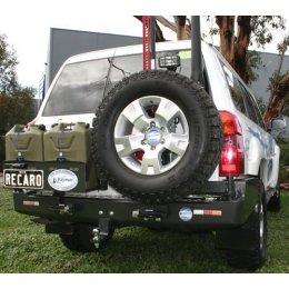 Задний бампер Kaymar с калитками Nissan Patrol Y61 1997-2010