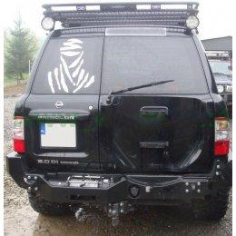 Задний силовой бампер Nissan Patrol Y61 1997-2004