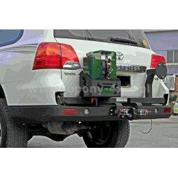 Алюминиевые задний бампер с калитками Toyota Land Cruiser 200