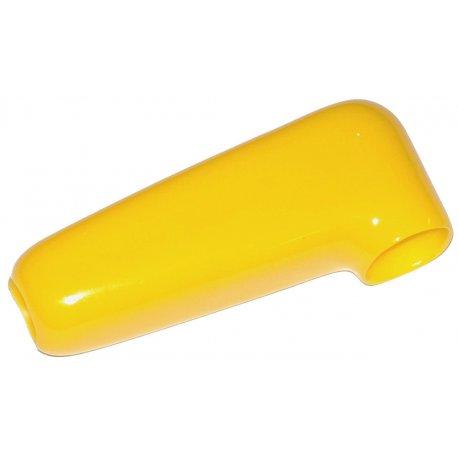 Изолятор из мягкого пластика на клемму силового провода (желтый)