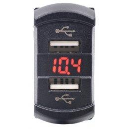 Зарядка USB с вольтметром